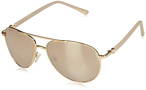 (Steve Madden Women's S5187 Aviator Sunglasses, Rose Gold, 60 mm)