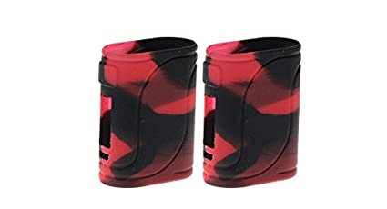 RAYEE – Carcasa de Silicona Funda Piel para eleaf istick Pico 25 85 W Mod Funda Black Red