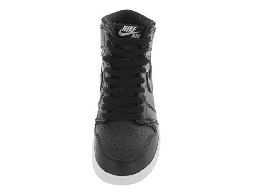 Nike Men's Air Jordan 1 Mid Basketball Shoe Black, Black-white