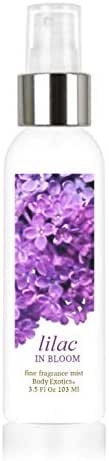 Lilac in Bloom Perfume Voted 'Most Realistic' Fine Fragrance Cologne Mist 3.5 Fl Oz 103 Ml Alcohol-free Fine Fragrance Perfume Mist Body Exotics Intoxicating Fragrance of Lilacs in Full Bloom