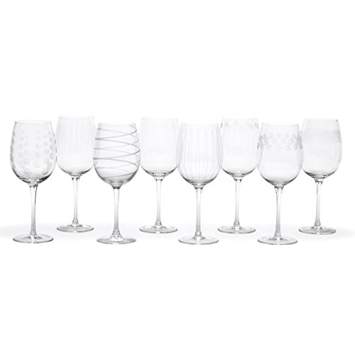 Set 4 Etched Wine Glasses (Mikasa Cheers White Wine Glasses, 16-Ounce, Set of 8)