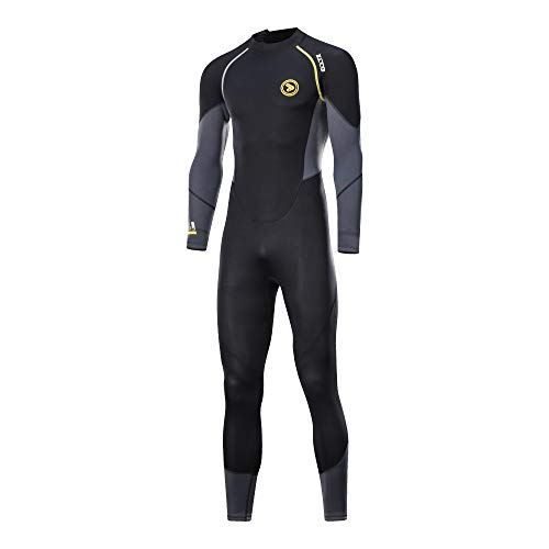ZCCO Wetsuit Men's 1.5mm Premium Neoprene Full Sleeve for Snorkeling, Surfing,Canoeing,Scuba Diving Suits (Men, M) ()
