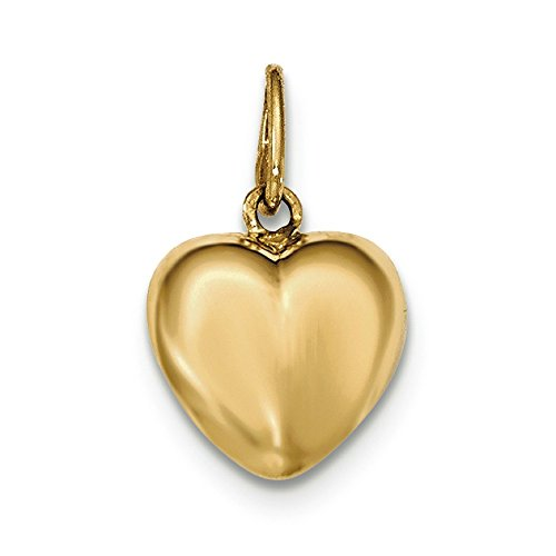 Or 14 carats Charms Pendentif Coeur Poli