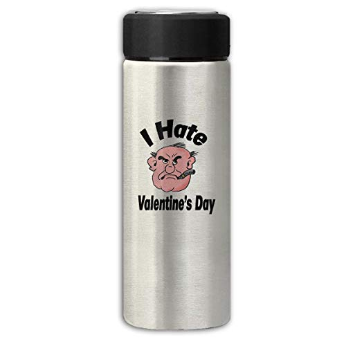 BAIXRU I Hate Valentines Day Insulation Scrub Business Water Bottles Gray One Size