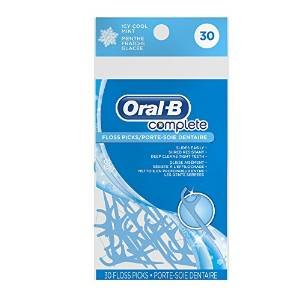 TSN Oral-b Complete Floss Picks, Icy Mint, 30 ct -  300410100896