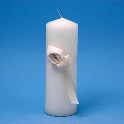 Ivy Lane Design Calla Lily Wedding Collection Unity Pillar Candle, Ivory Calla Lily Unity Pillar Candle