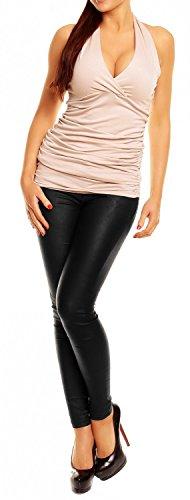 Allacciato T Empire shirt Schiena Scoperta Donna Ecru Collo Glamour Al Top 167 Con xtqUddwzp