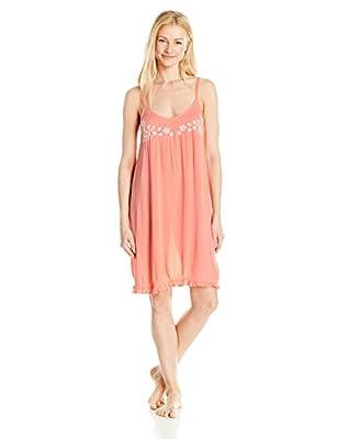 Mae Women's Sleepwear Crinkle Crepe Chemise Nightgown