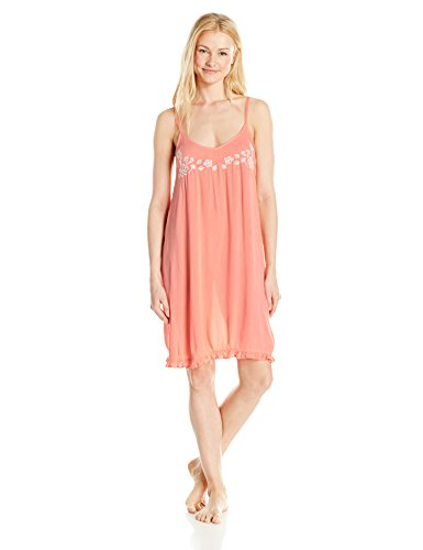 - Amazon Brand - Mae Women's Sleepwear Crinkle Crepe Chemise Nightgown, Peach, Medium