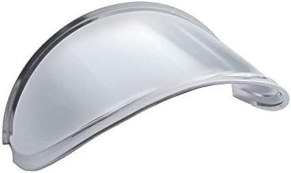 United Pacific 10533 5-3//4 inch Round Stainless Steel Headlight Visor