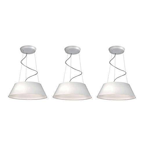 Philips 405503148 Ledino Cielo Dimmable LED Suspension Pendant Light, White (3 Pack)