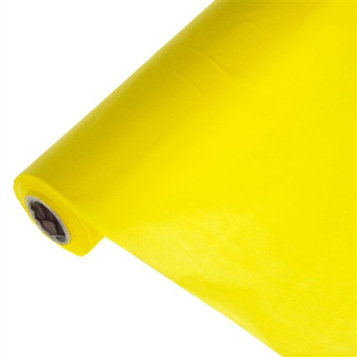 Homeford Firefly Imports Banquet Plastic Table Roll Uncut, 40-Inch x 100 Feet, Yellow, 100' -