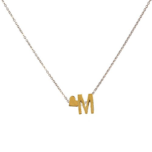 Swyss 26 English Letter Name Chain Pendant Necklace Chic Clavicle Chain Jewelry Accessories Simple Fashion (M)