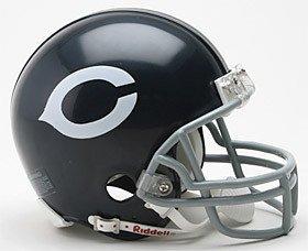 Bears Throwback Mini Helmet (Chicago Bears 1962-73 Throwback Replica Mini Helmet w/Z2B Mask - NFL Licensed)