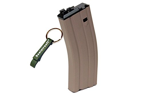 WE 30rds Open Bolt Airsoft Gas Magazine For WE SCAR / L85 / M4 Series GBB TAN -Mobile Ring - Open Bolt