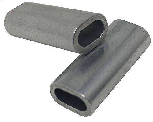 (100) Aluminum Double Oval Crimping Sleeves (2.8mm I.D.)