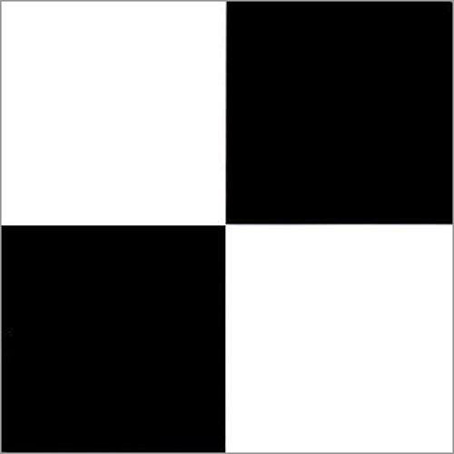 Furnish my Place 40 Piece Black White Checkered