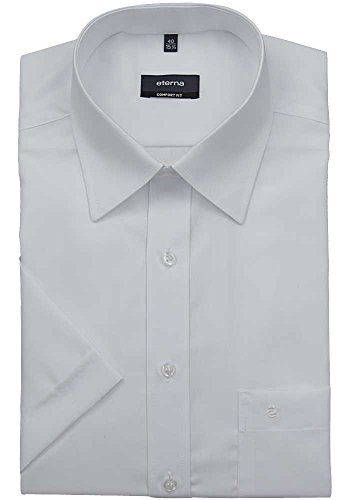 ETERNA hommes Comfort Fit Chemise de manches courtes blanc
