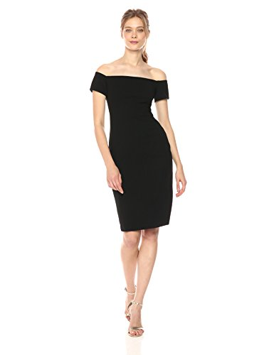 Black Halo Women's Bethel Off Shoulder Sheath Dress, Black, 4 by Black Halo