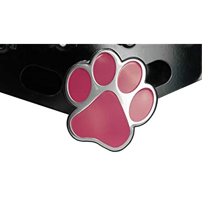 LFPartS Dog Animal Paw Foot Emblem Metal Trailer Hitch Cover (Fit 2