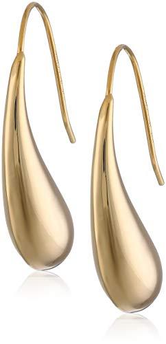 18k Yellow Gold Plated Sterling Silver Teardrop Earrings ()