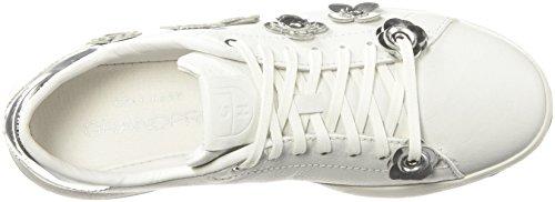 Leather Grandpro Haan Sneaker argento Fashion Tennis Specchio Cole Ox Womens Optic White Lace W1qnxFnHTd
