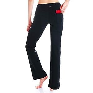 Yogipace,27″/29″/31″/33″/35″/37″,Women's Bootcut Yoga Pants Workout Back Pockets