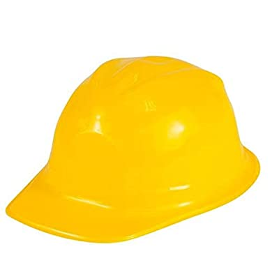 CHILD SIZE YELLOW CONSTRUCTION HAT: Toys & Games