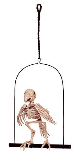 Hanging Pirate Prop - Crazy Bonez Perched Skeleton Parrot