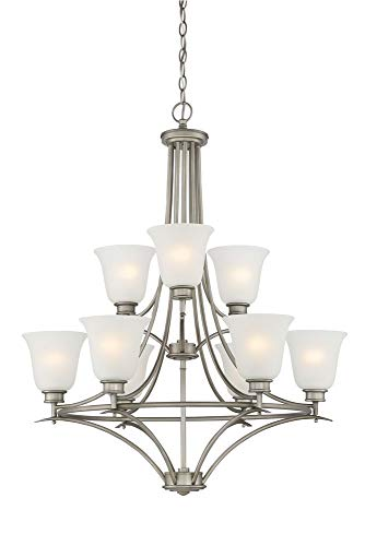 (Designers Fountain 96989-MTP Montego 9 Light Chandelier, 35.75