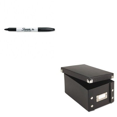 KITIDESNS01577SAN30001 - Value Kit - Snap-n-store Snap 'N Store Collapsible Index Card File Box Holds 1 (IDESNS01577) and Sharpie Permanent Marker (SAN30001)