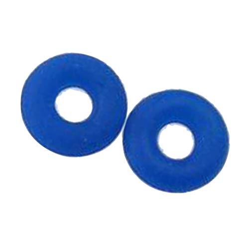Sapphire Slide Spacer - SM SunniMix 100Pcs Silicone Rubber Ring Charm Bracelet Bead Spacer Stopper fit Clip Lock - Sapphire, 6mm