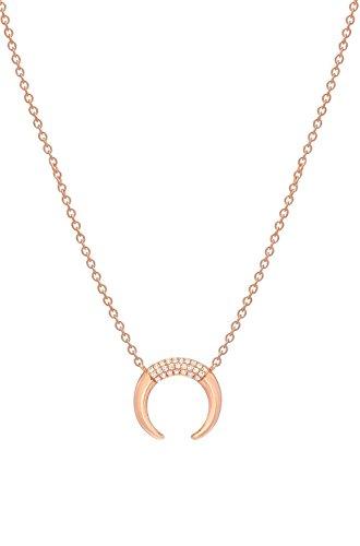 Diamond horn necklace by Zoe Lev Jewelry