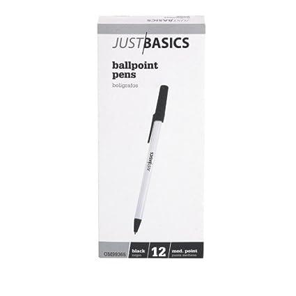 amazon com officemax stick medium point ballpoint pens 12 black
