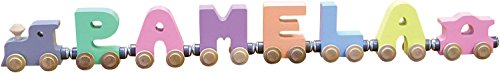 6 Letter Pastel NameTrain - Made in USA