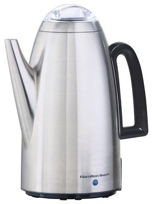 Hamilton Beach Brands 40614 Coffee Percolator, Stainless Steel, 12-Cup,Pack of 2 by Hamilton Beach Brands Inc