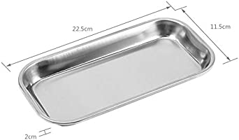G.S 1 PCS Dental Stainless Steel Tray 8.5 X 4.3 X 0.8 LAB Instrument Useful Best Quality