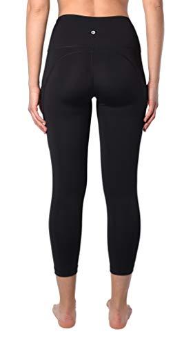 90 Degree By Reflex 22'' Yoga Capris - Yoga Leggings - Yoga Capris for Women - Black with Pocket - XS by 90 Degree By Reflex (Image #2)