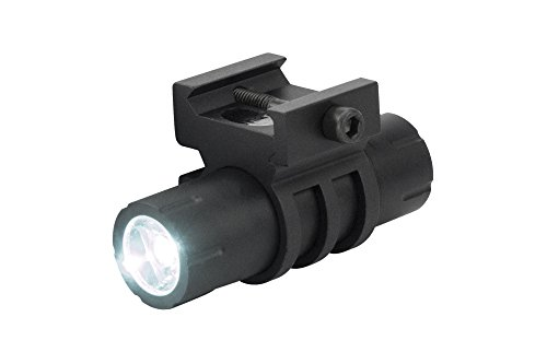 100 Lumens Ultra-Compact Flashlight with Rail Mount and Detachable Remote Pressure Switch ()