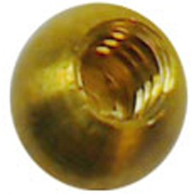 """25-1/4"""" threaded 6-32 brass balls drilled tapped lamp finials"""