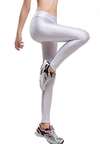 1ebf751ee5f Romastory Women Fluorescent Colors Tights Stretched Sports Leggings Yoga  Pants (L
