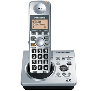 Panasonic Dect 6.0 Silver Cordless Phone with Answering Machine (KX-TG1031S) (Panasonic Cordless Phones Silver compare prices)