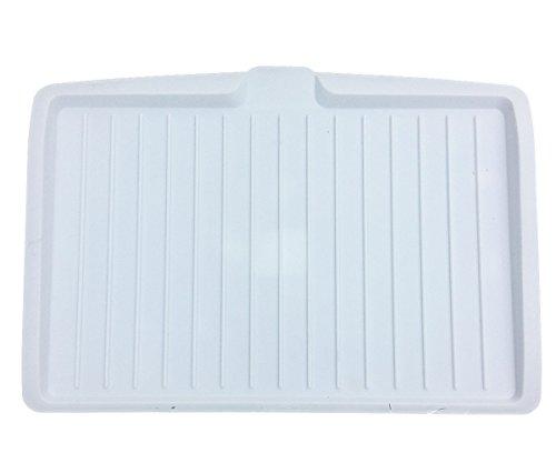 Geschirrabtropfkorb Abtropfständer Geschirr Kunststoff (Rein Weiß)