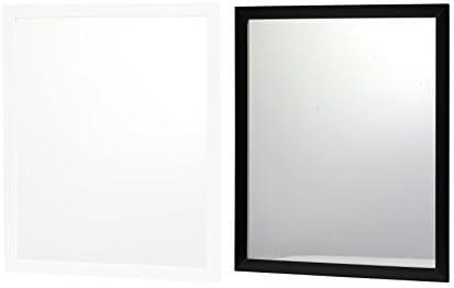 Ma/ße : ca HxB Schwarz DRULINE Spiegel Wandspiegel T/ürspiegel Schminkspiegel Flurspiegel Rechteckig Kunststoff 44,5 x 34 cm