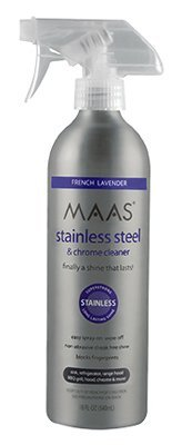 Maas 92840 18 oz Stainless Steel & Chrome Cleaner Spray - Quantity 12 by Maas