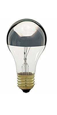 Satco S3955 60W A19 Incandescent, Silver Crown (Pack Of 8)