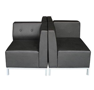 SedLivo Modular Office Sofa Corner/End Seat Black Leather