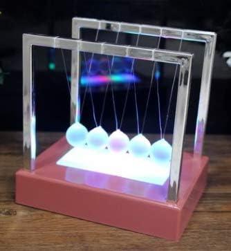 Poualss - Reloj de Mesa con Luces LED para Cuna de Newton, péndulo ...