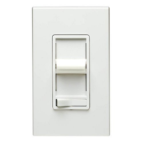 Leviton R12-06633-PLW Decora 3-Way Slide Dimmer with Preset ...:Leviton R12-06633-PLW Decora 3-Way Slide Dimmer with Preset Lighted Pad  Option, White - Wall Dimmer Switches - Amazon.com,Lighting
