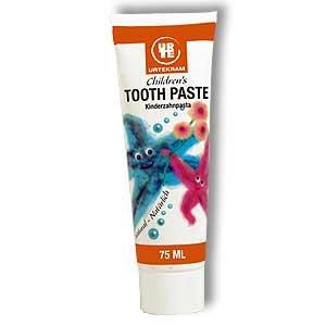 Натуральная Mild фенхеля Детский Toothpaste- Сделано в Дании Urtekram, 75 мл.